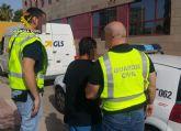 La Guardia Civil detiene a un vecino de Mazarrón por agredir con un arma blanca a otra persona