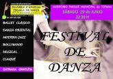 La Escuela de Danza MANOLI CÁNOVAS celebra su FESTIVAL de fin de curso mañana sábado 29 de junio