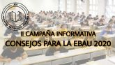 Juventud Estudiantil vuelve a lanzar su campaña de consejos de cara a la EBAU 2020