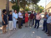 La Alcaldesa de Molina de Segura visita el desarrollo de las obras que se ejecutan con cargo a los Presupuestos Participativos 2016