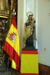 La comandancia naval de Sevilla dedicó una santa misa en honor a su patrona, la Santísima Virgen del Carmen