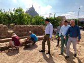 Las excavaciones arqueológicas sacan a la luz la finca de recreo del rey Lobo en Monteagudo