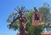 El Raspajo ya está listo para dar por concluidas las Fiestas con su quema el próximo domingo