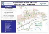 Servicio gratuito de autobuses en Las Torres de Cotillas para el día de Todos los Santos
