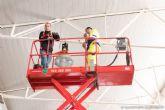 Comienzan los trabajos para mejorar la iluminacion en el Mercado Santa Florentina