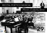Fuente Álamo acoge este viernes un recital poético musical gratuito dentro de su programación cultural