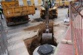 Obras de mejora de las redes en calle Salzillo y Alquer�as