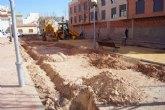 Construyen un parque en Triptolemos, el primer espacio verde y recreativo para niños en esta zona del casco urbano