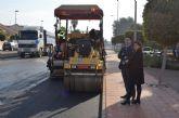La avenida del Mirador, en Santiago de la Ribera, estrena asfalto