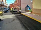El Ayuntamiento inicia un plan de parcheo que se extenderá en todas las calles de Puerto Lumbreras
