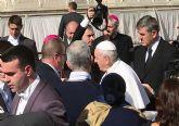 La Hospitalidad de Lourdes participa en la audiencia del Papa para entregarle el óbolo del Jubilar Hospitalario