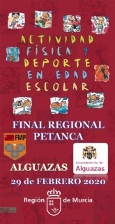 Alguazas acogerá mañana la Final Regional de Petanca de Deporte Escolar