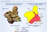 Activado el nivel preventivo por contaminación de partículas en suspensión en Alumbres y Escombreras