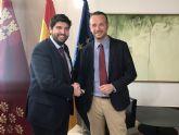 Fernando López Miras se reúne con el presidente de la Autoridad Portuaria de Cartagena