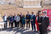 El presidente del Gobierno visita el Palacio Consistorial y el Anfiteatro Romano