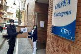 La residencia Orpea recibe material de seguridad para seguir protegiendo a sus usuarios
