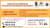 La Concejalía de Bienestar Social de Molina de Segura amplía los destinatarios que pueden solicitar el servicio de compra de productos de primera necesidad durante el estado de alarma por el COVID-19