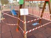Todos los parques y jardines del municipio continúan cerrados al público para no favorecer los contagios de la epidemia