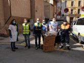 Rotary y Grupo Zambudio ceden al Ayuntamiento material de protección y gel desinfectante para Jesús Abandonado y las Hermanitas de los Pobres