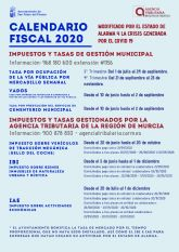 El Ayuntamiento aplaza el periodo de pago de impuestos y tasas municipales en el nuevo calendario fiscal