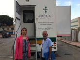 La unidad móvil de prevención del cáncer de mama realizará decenas de mamografías entre hoy y mañana en San Javier