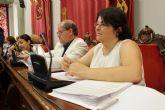 Cs denuncia en el Pleno el peligro de los cilindros amarillos de separación ubicados en un tramo de Sebastián Feringán