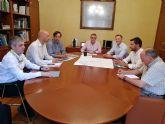 El presidente de la CHS, Mario Urrea, se reúne con el nuevo alcalde de Abarán, Jesús Gómez