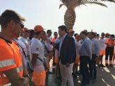 Las playas de Santiago de la Ribera y La Manga suman la mitad de las asistencias de baño asistido de toda la Región de Murcia