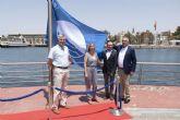El Real Club de Regatas de Cartagena ya luce su Bandera Azul
