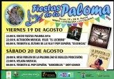 Las Fiestas de La Paloma tendrán lugar el 19 y 20 de agosto