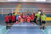 22 jugadores participan en la II concentración de tenis de mesa de Mazarrón