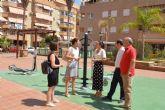 La plaza del Cala Real inaugura un área biosaludable