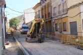 Avanzan las obras de renovación de infraestructuras del segundo tramo de la calle Álvarez Quintero