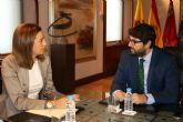 López Miras se reúne con la alcaldesa de Archena, Patricia Fernández