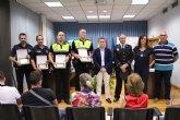 El Ayuntamiento de Lorquí reconoce a los agentes de Policía Local que rescataron a una persona del río