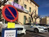 La parada municipal de taxis se traslada la puerta del Ayuntamiento mientras se produce la instalación y celebración de la Feria de Día