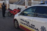 La Policia Local de Cartagena recupera una motocicleta robada de alta cilindrada