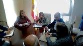 La delegado del Gobierno de la Mancomunidad de Canales del Taibilla recibe a la alcaldesa de Alhama de Murcia
