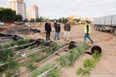 Los alrededores del Palacio de Deportes albergaran la mayor concentracion de plantas en un jardin del termino municipal