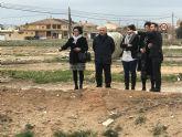 El Alcalde de Torre-Pacheco, muestra a la Consejera de Presidencia los daños causados por las intensas lluvias