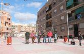 El equipo de gobierno visita las obras finalizadas del cubrimiento de la rambla del Realejo