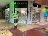 El Ayuntamiento de Murcia y Ferrovial Servicios mantienen un dispositivo de desinfección durante estas fiestas navideñas
