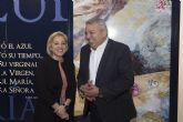 El Presidente del Paso Azul recibe en el MASS a la Pregonera de la Semana Santa 2016