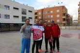 Los jugadores de ElPozo Murcia FS, Fabio, Xuxa y Fernando Drasler comparten la jornada con más de 300 alumnos/as del CEIP Mirasierra de Torreagüera