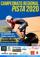 El Campeonato Regional de Pista 2020 se celebra en Torre Pacheco