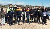 Alumnos del CEIP Luis Pérez Rueda participan en un simulacro de evacuación del edificio en caso de terremoto