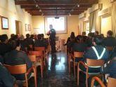 La Policia Local forma a militares del Arsenal de Cartagena en materia de seguridad vial y trafico