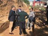 Comienzan las obras para reparar la carretera que enlaza Pozo Estrecho con Torre Pacheco