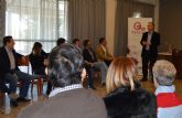Bruno Dureux, presidente delCírculo de Economía de la Región de Murcia, participa en los 'Desayunos de ASECOM'
