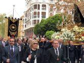 El consejero de presidencia y Fomento participa en el traslado de la imagen del Cristo de Santa Clara la Real, de Salzillo, en Murcia